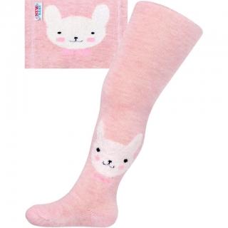 8f785463c0f Bavlněné punčocháče 3D - růžové s kočičkou - vel. 68 74