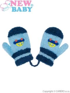 8e59c659de7 Dětské rukavičky New Baby s autem -modré